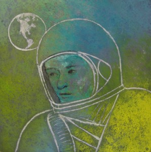 Spaceman-Tempera and shellac 2013
